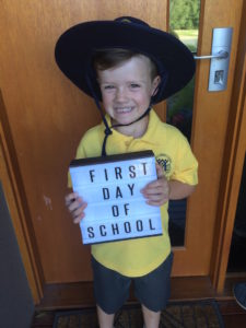 The middle child - first day of school