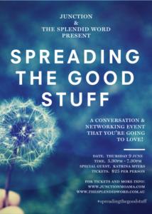 #spreadingthegoodstuff flyer